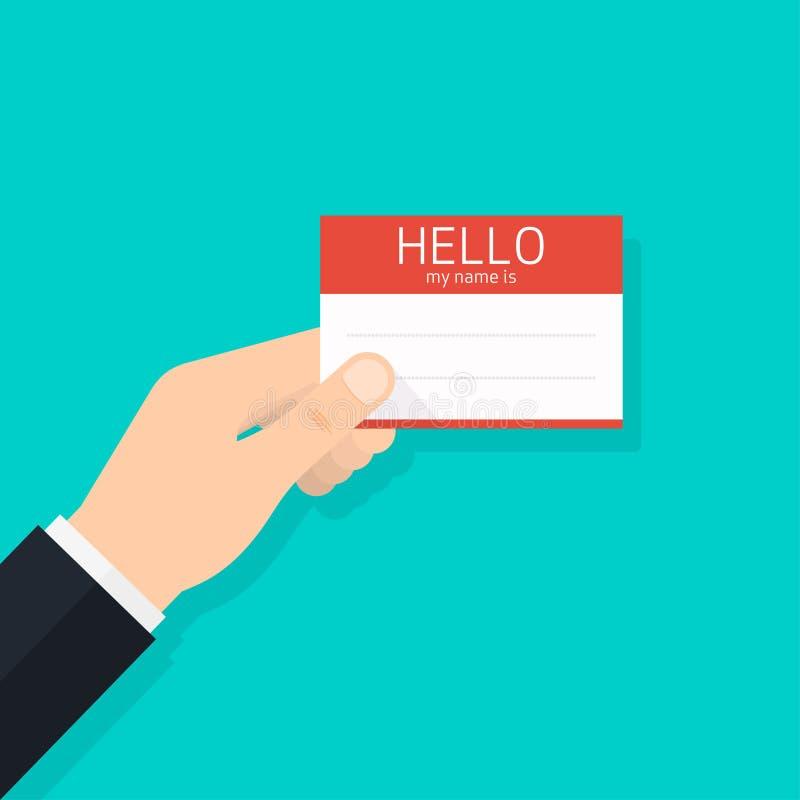 Επαγγελματική κάρτα εκμετάλλευσης χεριών γειά σου το όνομά μου διανυσματική απεικόνιση