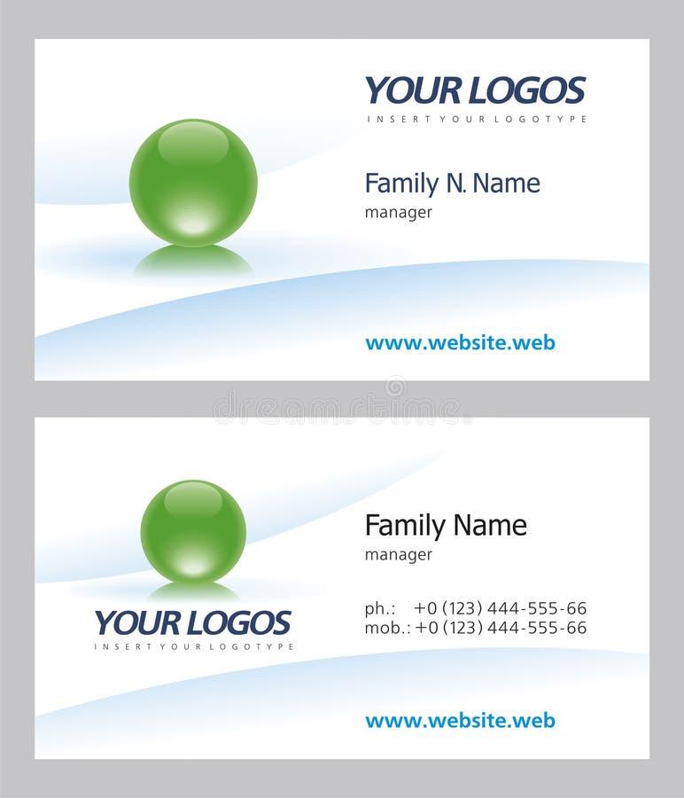 επαγγελματική κάρτα ελεύθερη απεικόνιση δικαιώματος