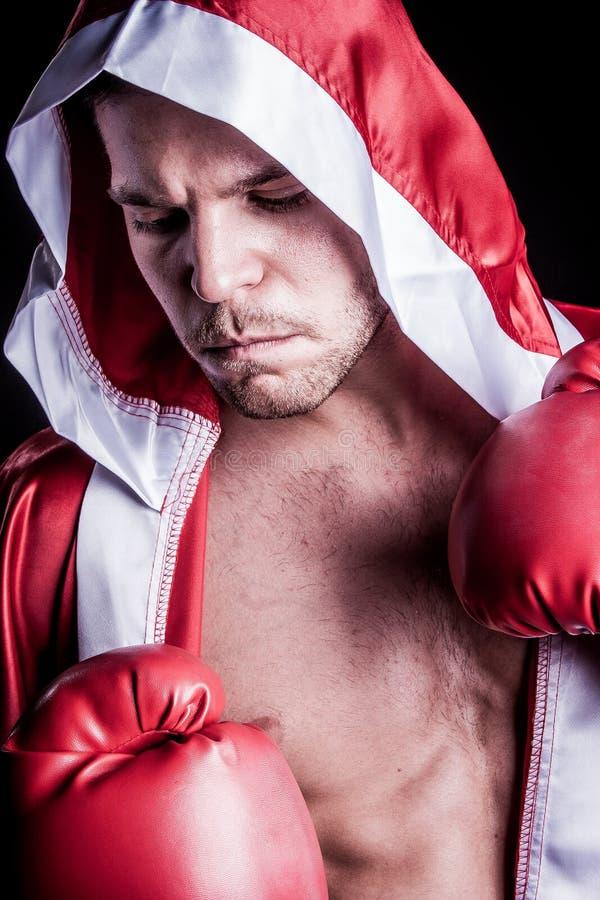 Επαγγελματικός μπόξερ μαχητών στοκ εικόνες
