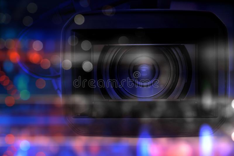 Επαγγελματικό βίντεο camcorder στο στούντιο στοκ φωτογραφίες