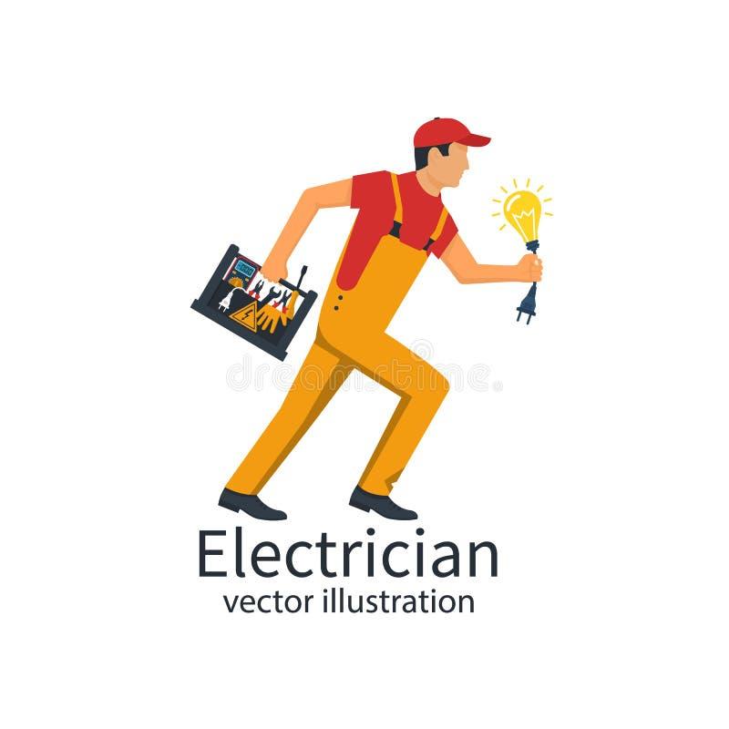 Επαγγελματικό διάνυσμα ηλεκτρολόγων διανυσματική απεικόνιση