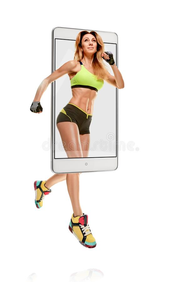 Επαγγελματικό θηλυκό sprinter στοκ εικόνες