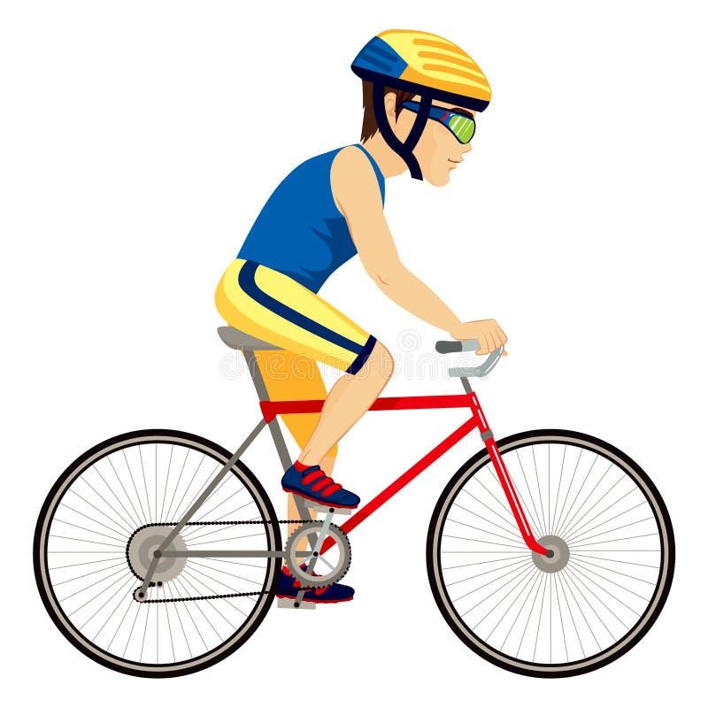 Επαγγελματίας ατόμων ποδηλατών διανυσματική απεικόνιση