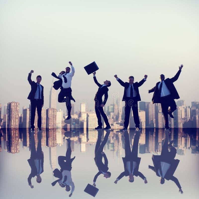 Επαγγελματική έννοια ομαδικής εργασίας ομάδας συνεργασίας επιχειρηματιών στοκ εικόνα με δικαίωμα ελεύθερης χρήσης
