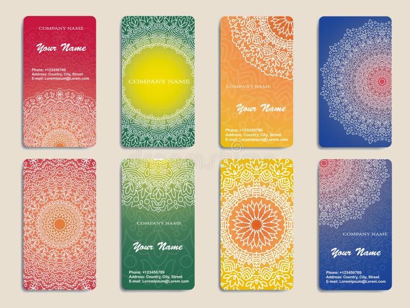 Επαγγελματική κάρτα ή πρόσκληση συλλογής απεικόνιση αποθεμάτων
