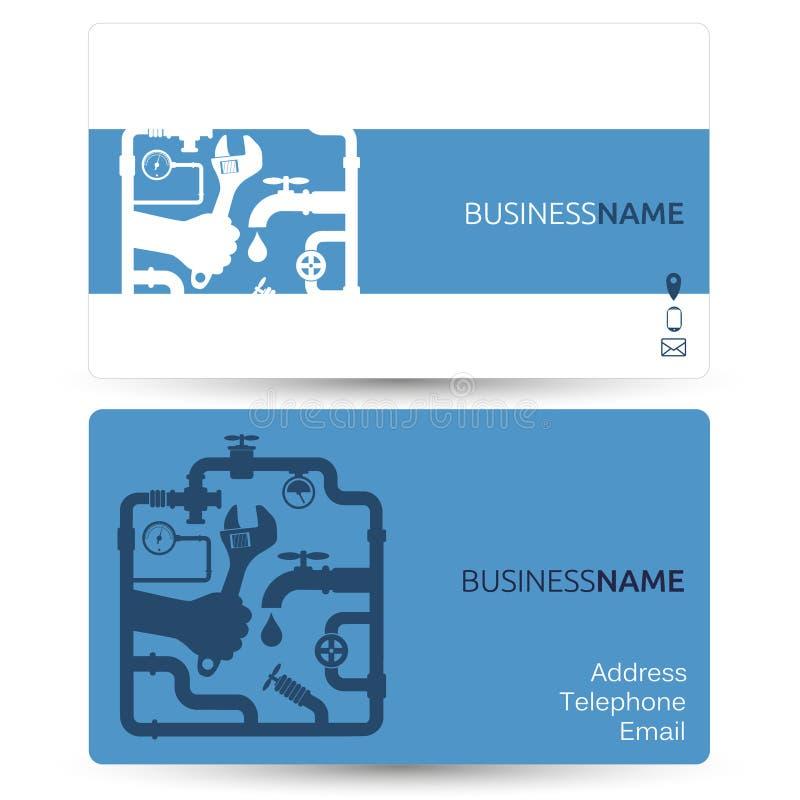 Επαγγελματική κάρτα για τα υδραυλικά επισκευής ελεύθερη απεικόνιση δικαιώματος