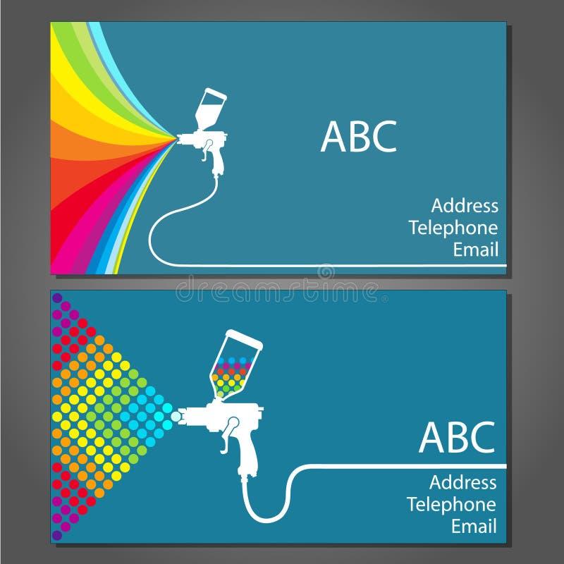 Επαγγελματική κάρτα για το ζωγράφο σπιτιών διανυσματική απεικόνιση