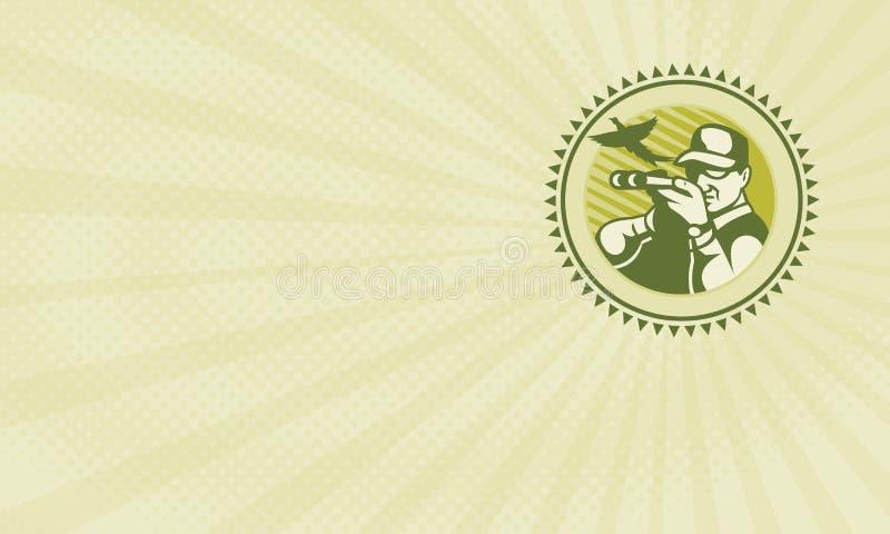 Επαγγελματική κάρτα προμηθειών κυνηγιού πουλιών απεικόνιση αποθεμάτων
