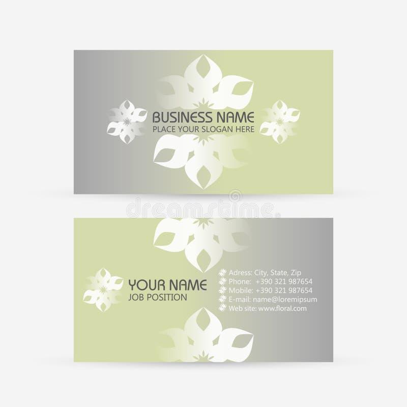Επαγγελματική κάρτα. Floral ελεύθερη απεικόνιση δικαιώματος