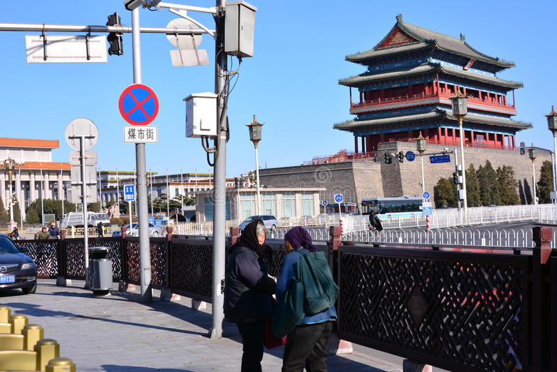 Επαγγελματικοί επαίτες στο Πεκίνο στοκ φωτογραφία