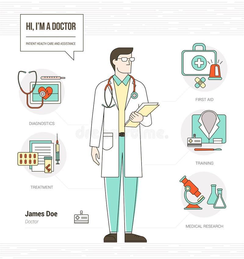 Επαγγελματικός γιατρός διανυσματική απεικόνιση