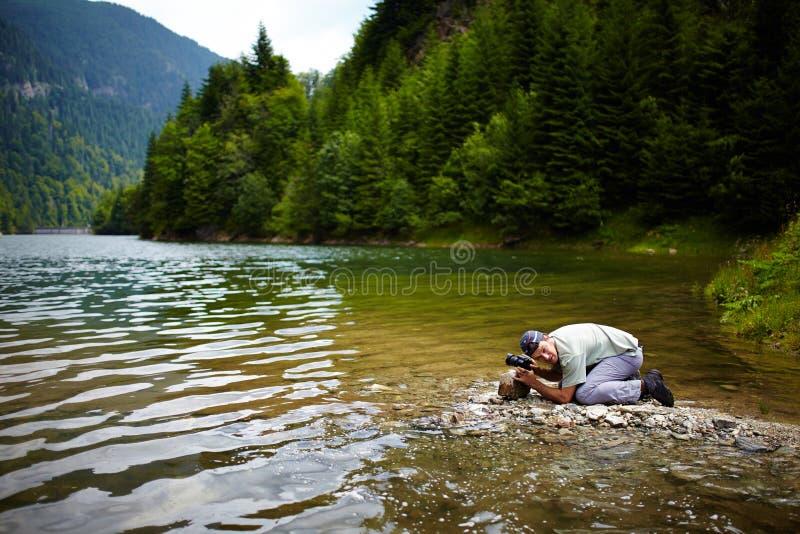 Επαγγελματικός φωτογράφος φύσης στοκ εικόνα με δικαίωμα ελεύθερης χρήσης