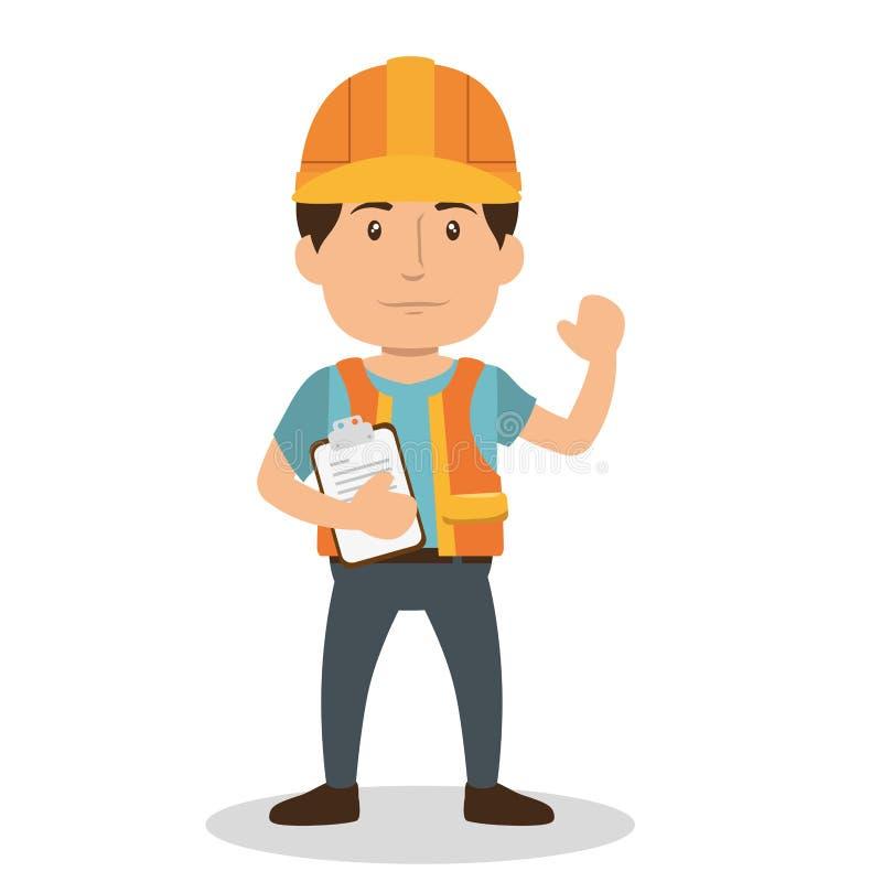Επαγγελματικός χαρακτήρας ειδώλων κατασκευής απεικόνιση αποθεμάτων