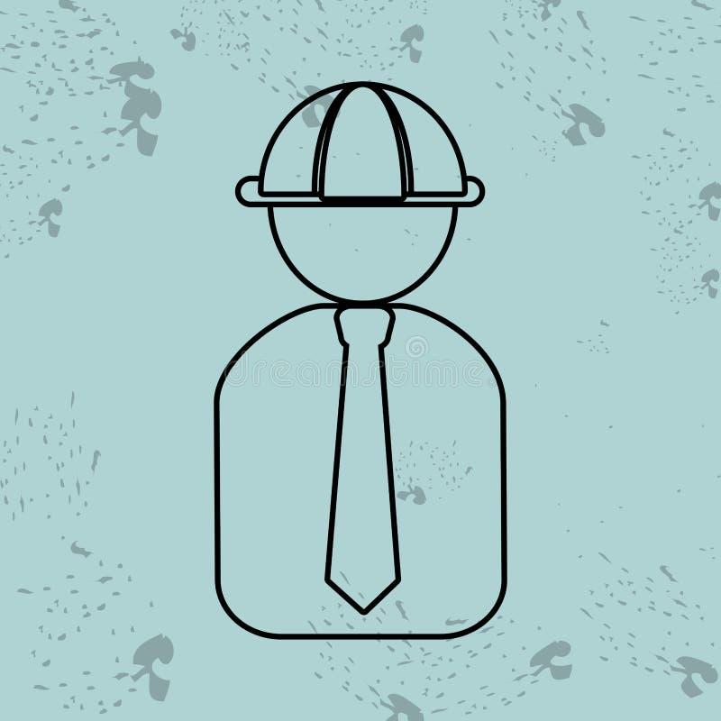 επαγγελματικό σχέδιο κατασκευής απεικόνιση αποθεμάτων