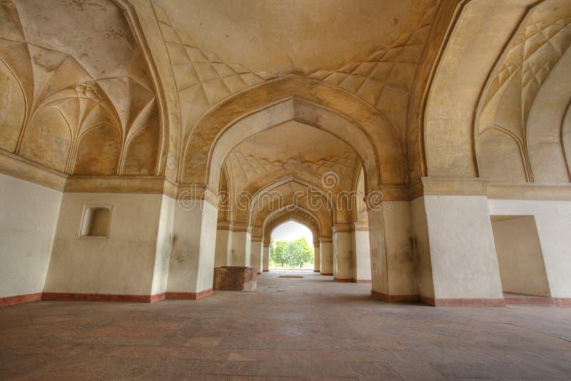 επανάληψη οχυρών αψίδων sikandar στοκ εικόνες