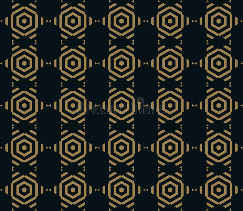 Διανυσματικό άνευ ραφής σχέδιο Σύγχρονη μοντέρνη σύσταση Επανάληψη των καθιερωνόντων τη μόδα γεωμετρικών κεραμιδιών με τη hexagon ελεύθερη απεικόνιση δικαιώματος