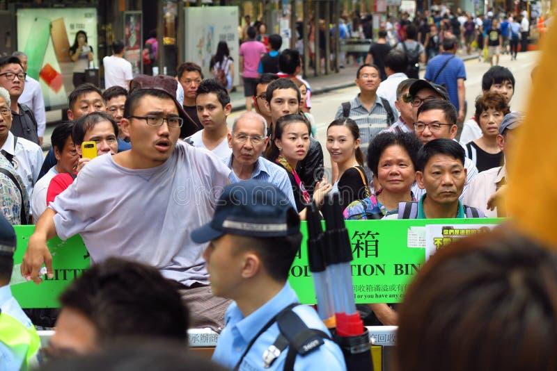 Επανάσταση ομπρελών σε Mong Kok στοκ φωτογραφία