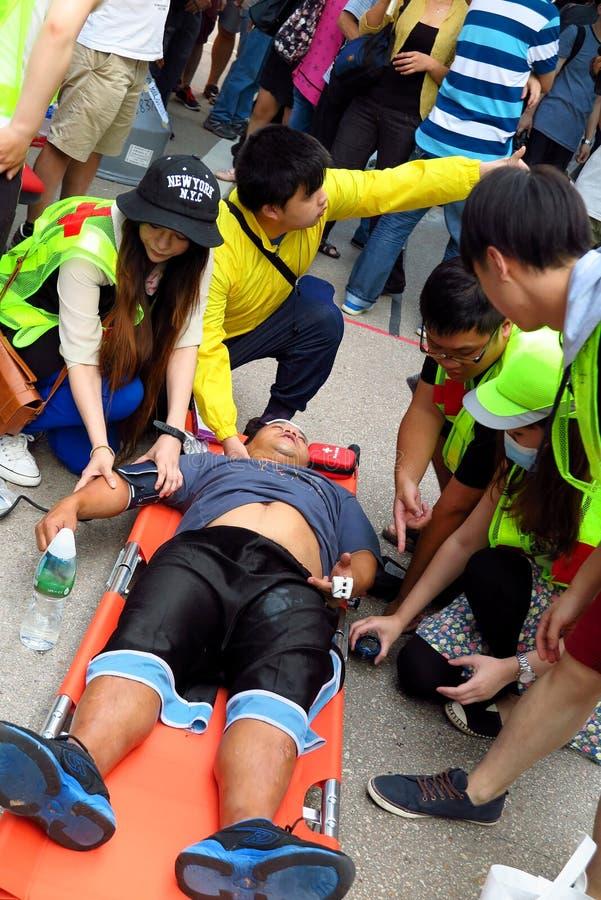 Επανάσταση ομπρελών σε Mong Kok στοκ εικόνα με δικαίωμα ελεύθερης χρήσης