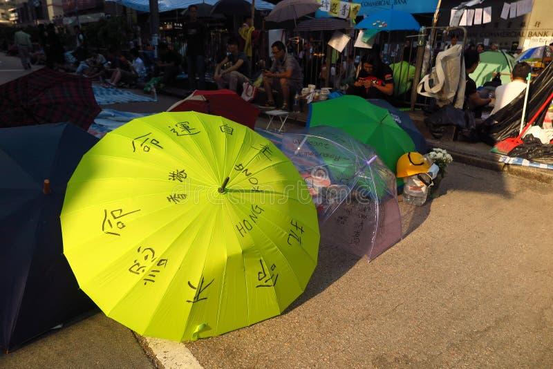 Επανάσταση ομπρελών σε Mong Kok στοκ εικόνα