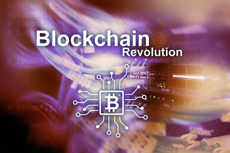 Επανάσταση Blockchain, τεχνολογία καινοτομίας στη σύγχρονη επιχείρηση στοκ εικόνες με δικαίωμα ελεύθερης χρήσης