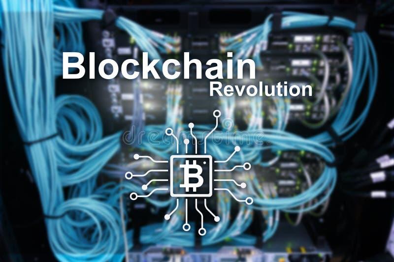 Επανάσταση Blockchain, τεχνολογία καινοτομίας στη σύγχρονη επιχείρηση στοκ εικόνες