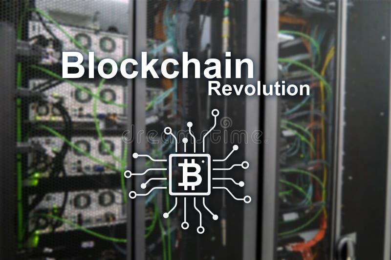 Επανάσταση Blockchain, τεχνολογία καινοτομίας στη σύγχρονη επιχείρηση στοκ φωτογραφία