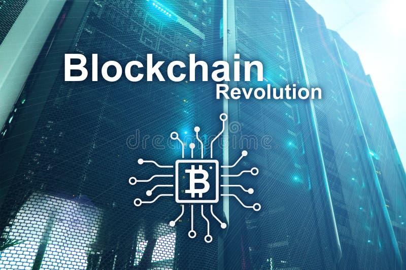 Επανάσταση Blockchain, τεχνολογία καινοτομίας στη σύγχρονη επιχείρηση στοκ εικόνα με δικαίωμα ελεύθερης χρήσης