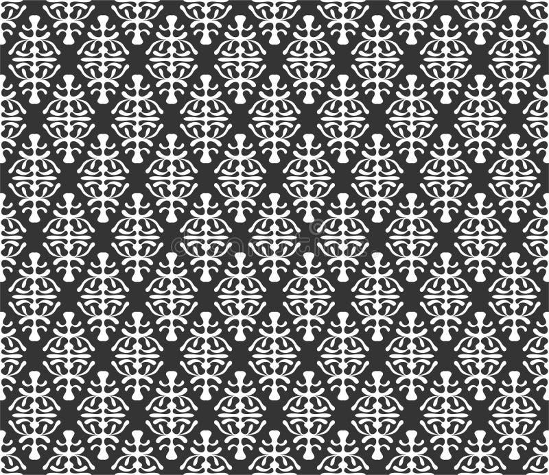 Επαναλαμβανόμενη απεικόνιση υποβάθρου σχεδίων μοτίβου στο μαύρο λευκό ν ελεύθερη απεικόνιση δικαιώματος