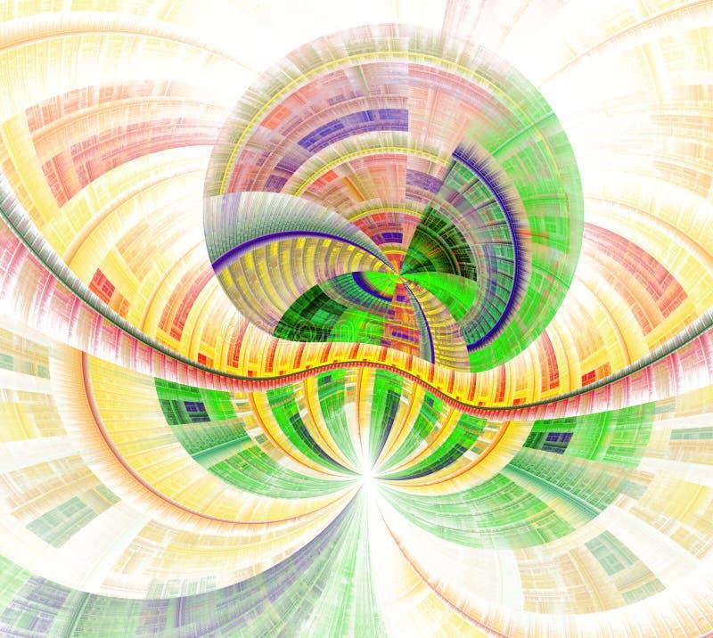 Επαναλαμβανόμενοι γραμμές και στρόβιλοι Απεικόνιση των δυνατοτήτων της φαντασίας Απίστευτοι μαθηματικοί υπολογισμοί απεικόνιση αποθεμάτων