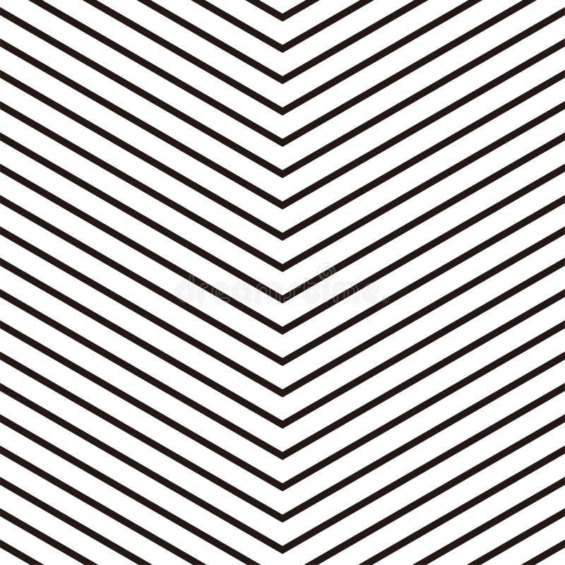 Επαναλαμβανόμενο άνευ ραφής σχέδιο με τις γραμμές Γεωμετρικό patt Grayscale διανυσματική απεικόνιση