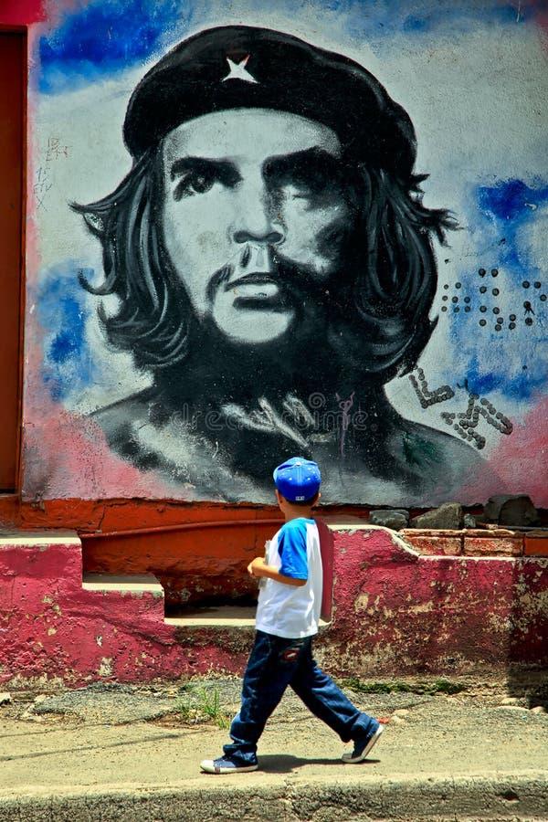 Επαναστατική τοιχογραφία Che Guevara στην πόλη Esteli, Νικαράγουα στοκ φωτογραφίες με δικαίωμα ελεύθερης χρήσης