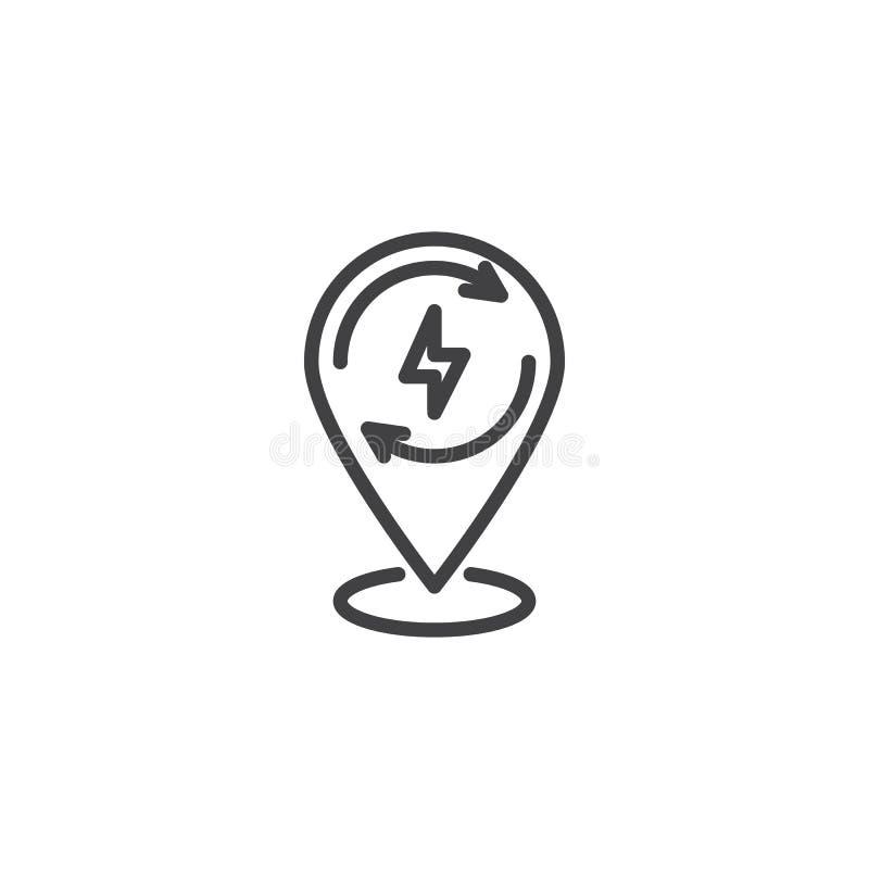 Επαναφόρτιση του εικονιδίου γραμμών δεικτών ενεργειακών χαρτών απεικόνιση αποθεμάτων