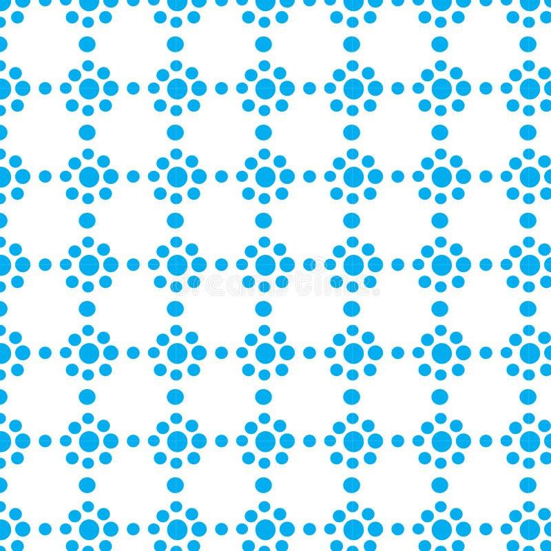 Επαναλάβετε αφηρημένο διανυσματικό σχέδιο λουλουδιών κύκλων σημείων χρώματος σημείων το μπλε γεωμετρικό στοκ φωτογραφία