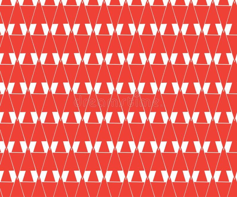 Επαναλάβετε την κόκκινη γεωμετρική περίληψη, υπόβαθρο γραμμάτων W στοκ εικόνες