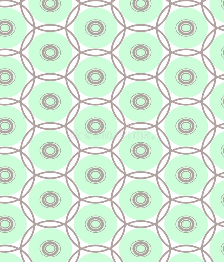 Επαναλάβετε την μπλε και γκρίζα σύνθεση σημείων γύρω από το γεωμετρικό αφηρημένο διανυσματικό σχέδιο στοκ φωτογραφίες