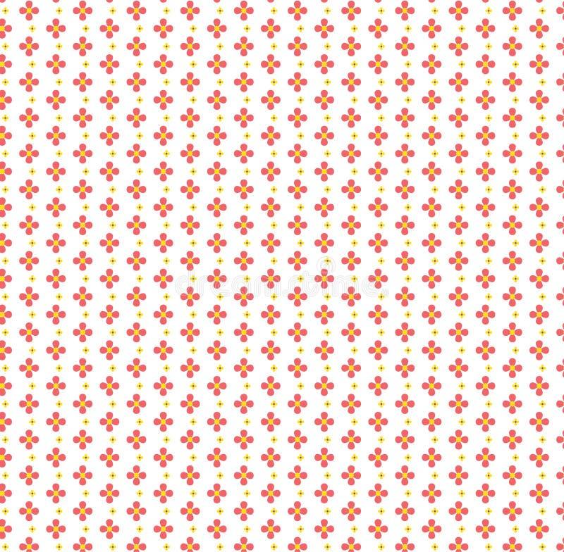 Επαναλάβετε το κόκκινο γεωμετρικό αφηρημένο διανυσματικό σχέδιο λουλουδιών στοκ εικόνες