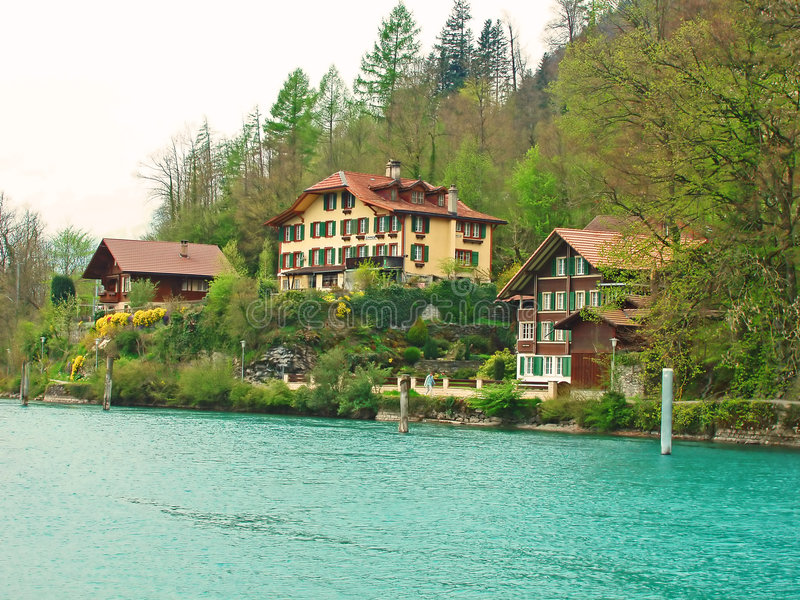 επαρχία Ίντερλεικεν Ελβετία στοκ εικόνες