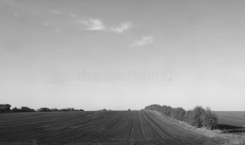 Επαρχία κοντά στο Καίμπριτζ σε γραπτό στοκ φωτογραφίες με δικαίωμα ελεύθερης χρήσης