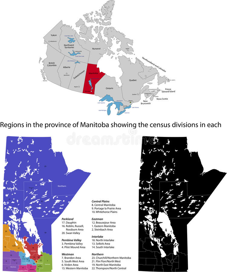 Επαρχία του Καναδά - του Manitoba απεικόνιση αποθεμάτων