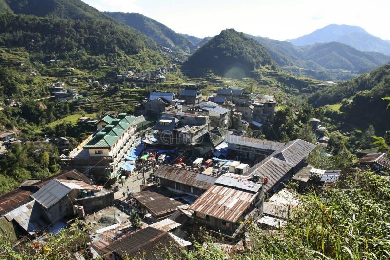 Επαρχία Φιλιππίνες βουνών πόλης ifugao Banaue στοκ φωτογραφία με δικαίωμα ελεύθερης χρήσης