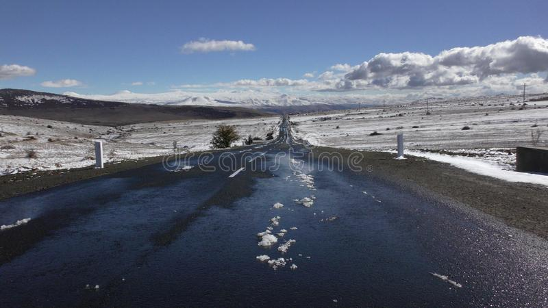 _ Επαρχία Aragatsotn roadscape στοκ εικόνα