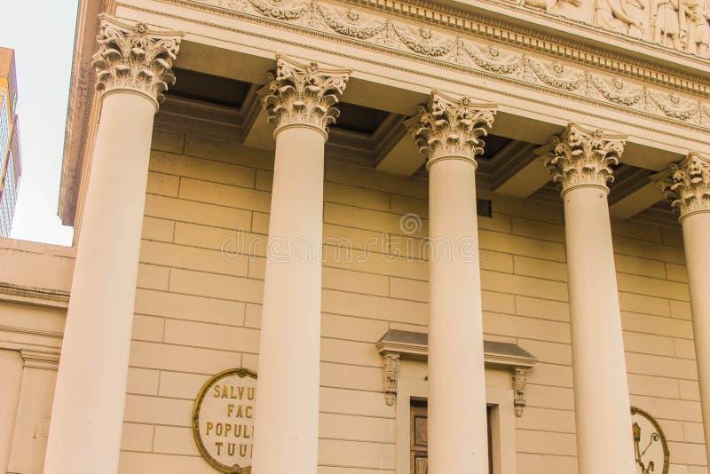 Επαρχία Vintage Κτίριο Αργεντινής Σημαία Κυβέρνηση Ανεξαρτησίας Έξω Από την Οδό Αργεντινής Ιστορικό στοκ φωτογραφία