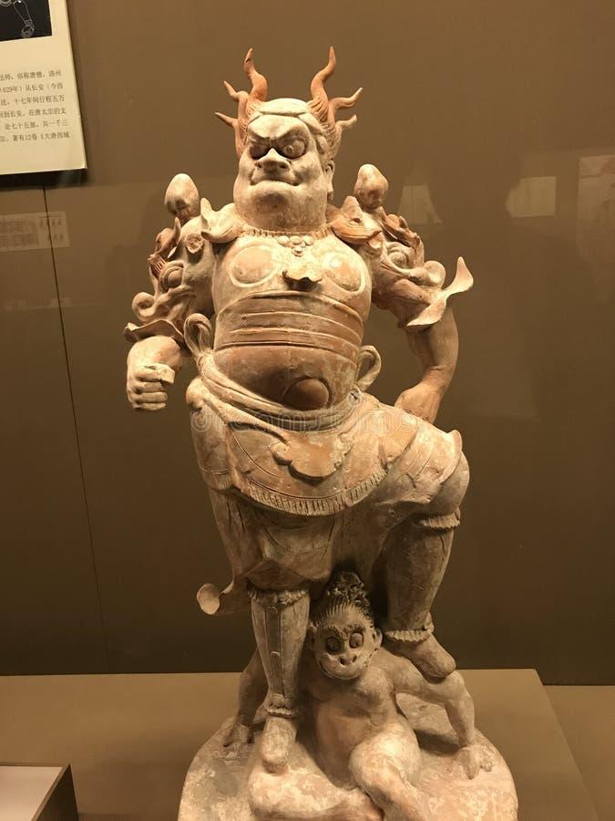 Επαρχιακά λείψανα μουσείων ιστορίας Shaanxi πολιτιστικά και γλυπτό φαντασμάτων στοκ εικόνες