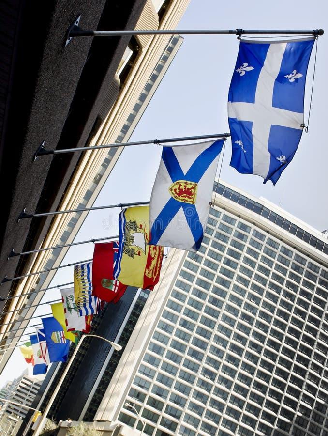 Επαρχιακές σημαίες του Καναδά στοκ εικόνες