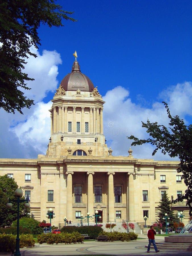 Επαρχιακό νομοθετικό κτήριο Winnipeg, Manitoba στοκ φωτογραφία με δικαίωμα ελεύθερης χρήσης