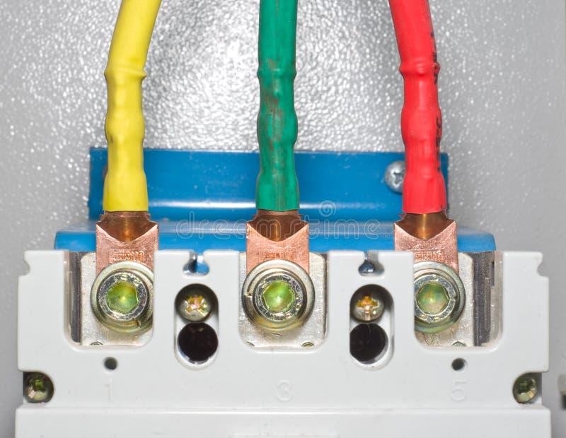 Επαφές δύναμης του αυτόματου ηλεκτρικού διακόπτη φραγμών στοκ φωτογραφία με δικαίωμα ελεύθερης χρήσης