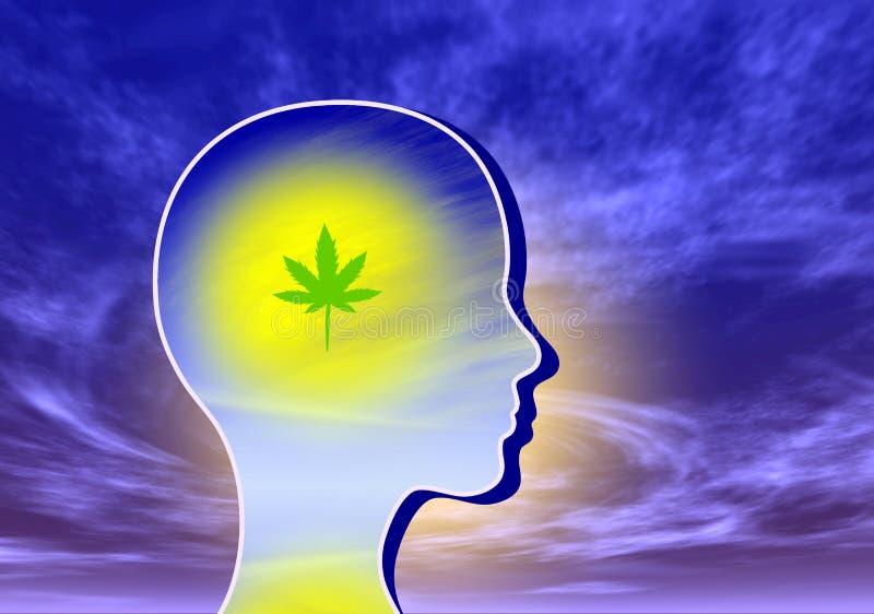 Επεκτειμένος μαριχουάνα μυαλού απεικόνιση αποθεμάτων