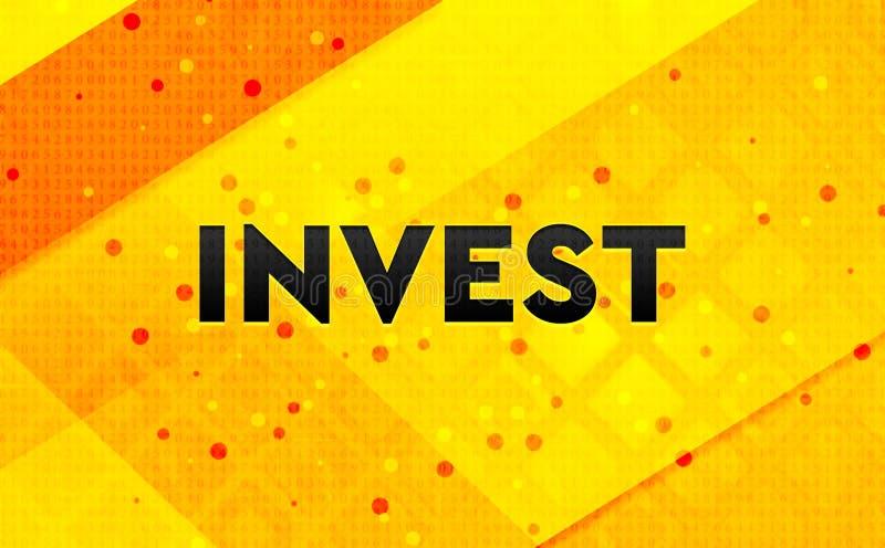Επενδύστε το αφηρημένο ψηφιακό κίτρινο υπόβαθρο εμβλημάτων διανυσματική απεικόνιση