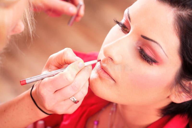επεξεργασία ομορφιάς makeup στοκ φωτογραφίες