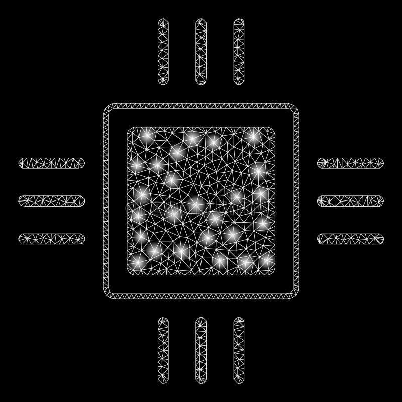 Επεξεργαστής δικτύων πλέγματος φλογών με τα σημεία φλογών απεικόνιση αποθεμάτων